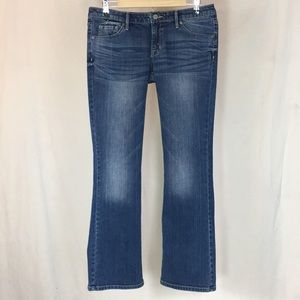 Mossimo Mid-Rise Bootcut Jeans 8 Short